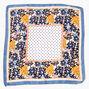 Floral Polka Dot Silky Bandana Headwrap - Blue,