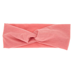 Wide Jersey Stretch Headwrap - Light Rose,