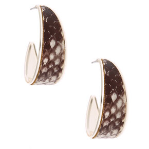 Silver 30MM Snakeskin Hoop Earrings,