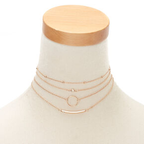 Gold Choker Necklaces - 4 Pack,