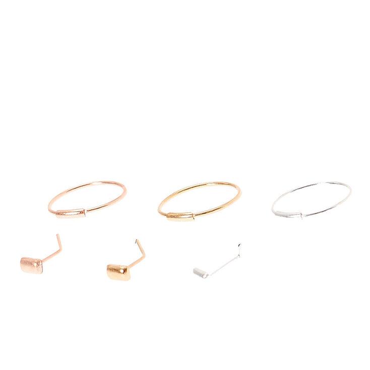Stud & Hoop Nose Jewels,