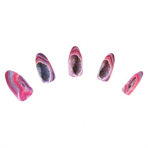 Geode False Nails - Pink, 24 Pack,