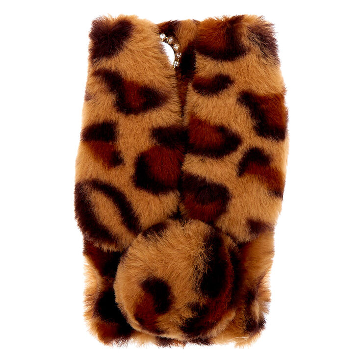 Leopard Print Fur Bunny Phone Case - Fits iPhone 6/7/8,