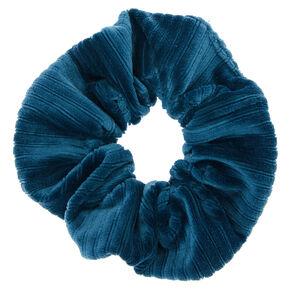 Ribbed Velvet Hair Scrunchie - Teal,