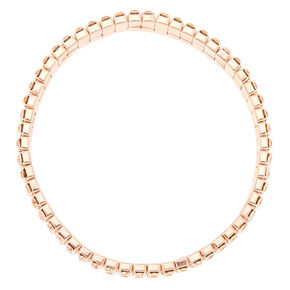 Rose Gold Rhinestone Stretch Bracelet,