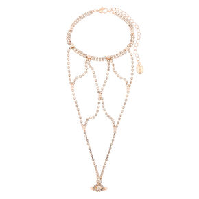 Rose Gold Glam Hand Chain,