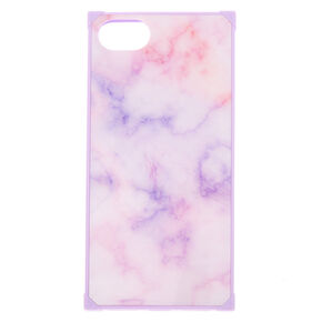 Pastel Marble Square Phone Case - Purple,