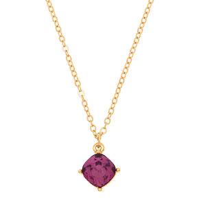 February Birthstone Pendant Necklace - Amethyst,