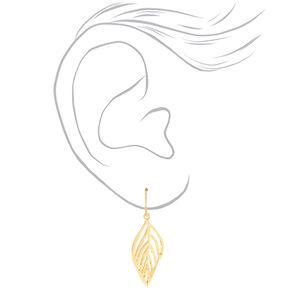 Mixed Metal Leaf Drop Earrings - 3 Pack,