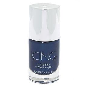 Shimmer Nail Polish - Navy Sparkle,