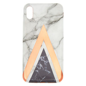 Pink Geometric Marble Phone Case - Fits iPhone XS Max,