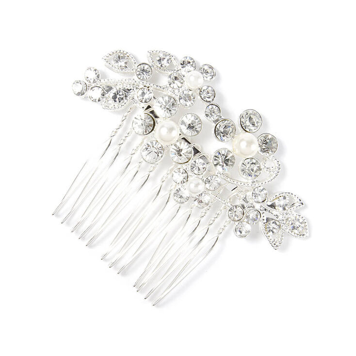 1940s Hairstyles- History of Women's Hairstyles Icing Rhinestone Vines  Leaves Hair Comb $12.99 AT vintagedancer.com