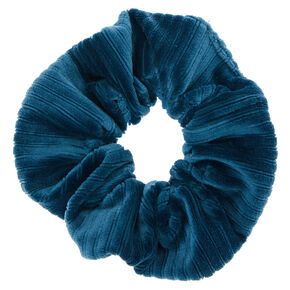 Ribbed Velvet Hair Scrunchie - Teal,