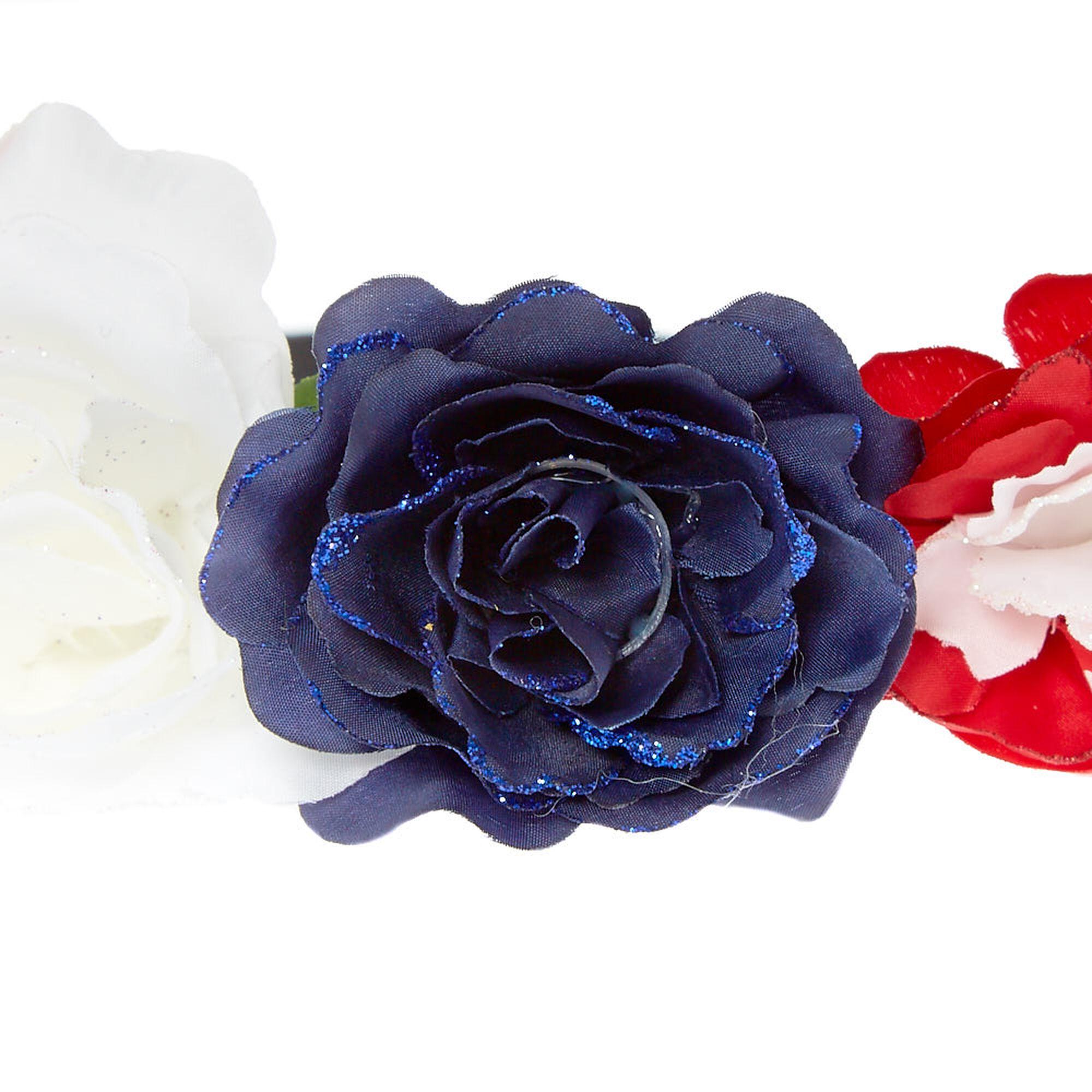 Patriotic flower crown headwrap icing us patriotic flower crown headwrap izmirmasajfo