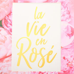La Vie En Rosé Mini Wall Art,