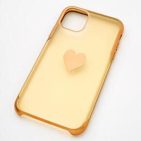 Gold Frosted Heart Phone Case - Fits iPhone 11,