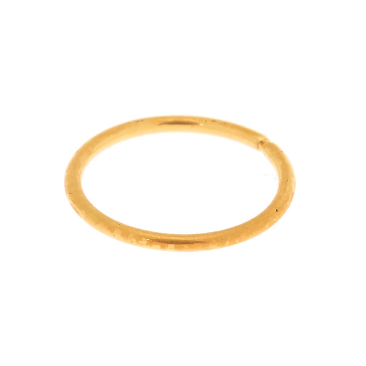 18ct Gold Plated 20G Infinity Nose Ring,