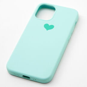 Mint Heart Phone Case - Fits iPhone 12/12 Pro,