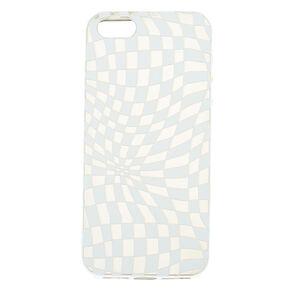 Checkered Illusion Phone Case - White,