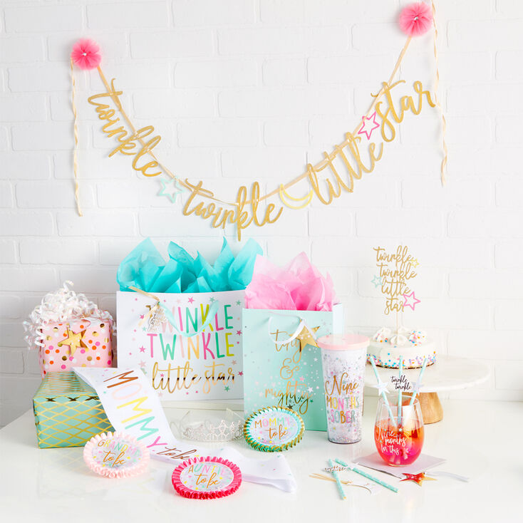 Twinkle Little Star Baby Shower Party Set,