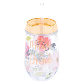 Mama Needs a Drink Wine Tumbler - Rose Gold,