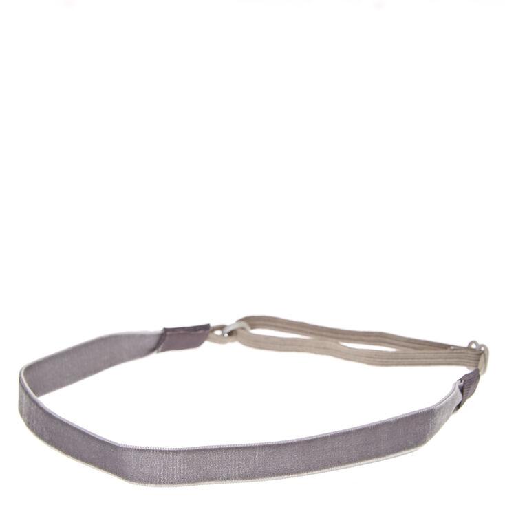 Gray Velvet Headwrap,