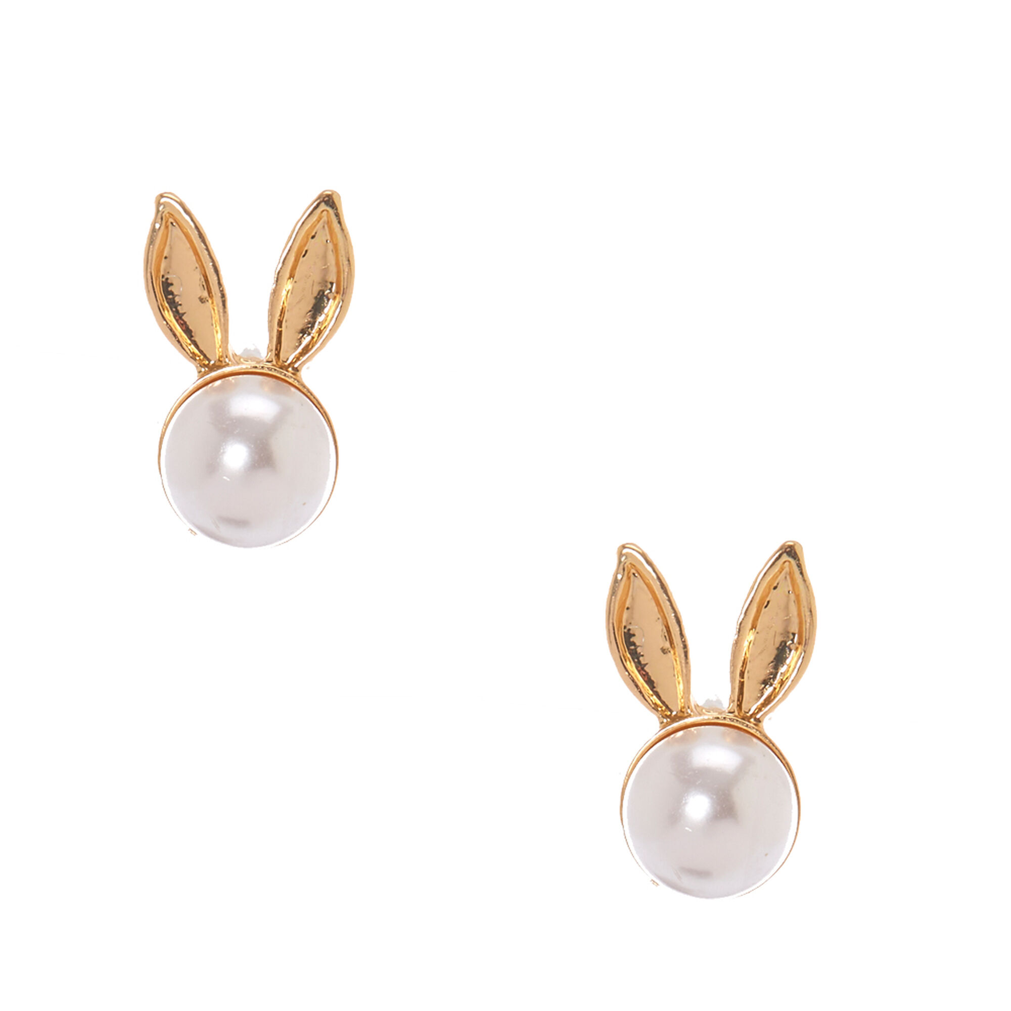 colour millen pearl gb jewellery faux womens silver logo stud earrings accessories karen