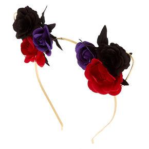 Floral Cat Ears Headband,