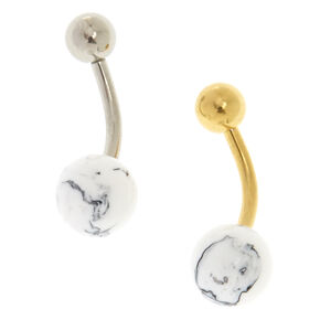 Silver & Gold Marble Belly Bars,