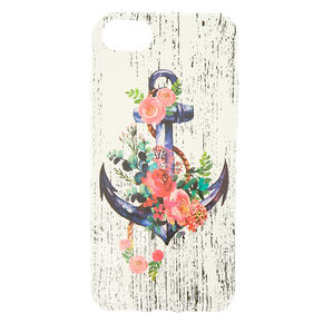 Floral Anchor Phone Case - White,