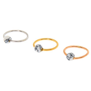 Mixed Metal Marble Cartilage Earrings,