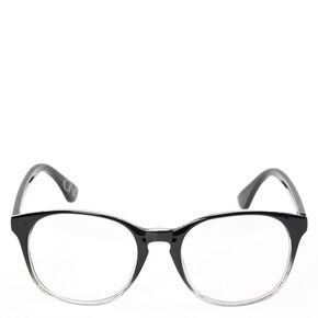 Black & Clear Ombre Round Frames,