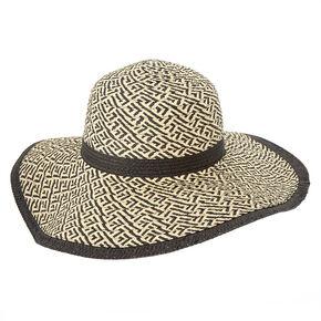 Woven Straw Floppy Sun Hat,