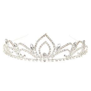 Silver Rhinestone Swan Princess Tiara,