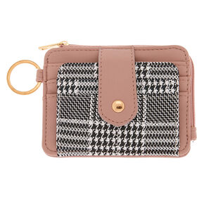 Glen Plaid Coin Purse - Pink,