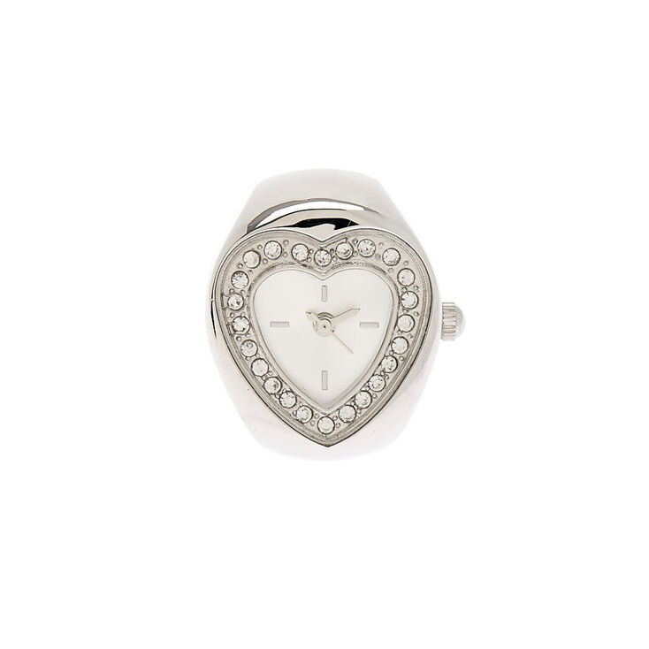Silver Heart Ring Watch,