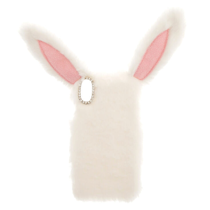White Fur Bunny Phone Case - Fits iPhone X/XS,