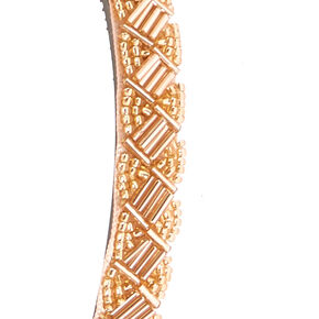 Rose Gold Beaded Headband,