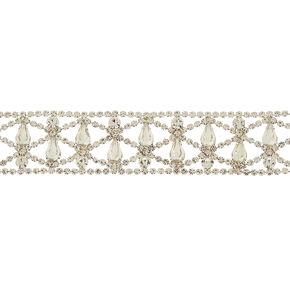 Silver Rhinestone Choker Necklace,