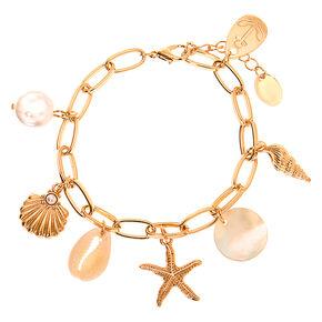 Gold Sea Style Charm Bracelet,
