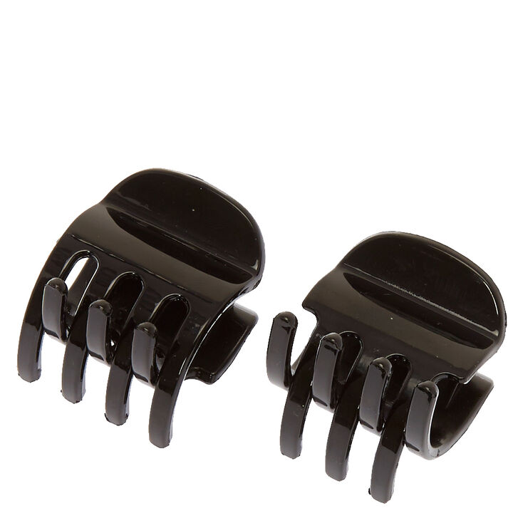 No Slip Hair Claws - Black, 2 Pack,