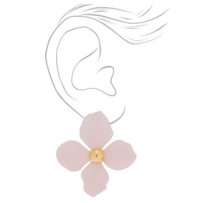 "2"" Flower Stud Earrings - Blush,"