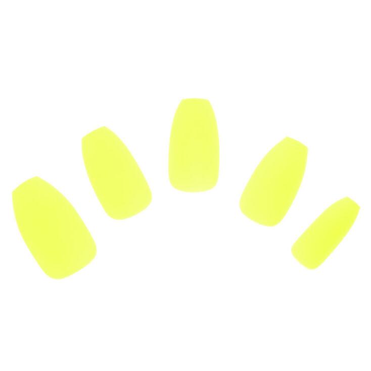 Citron Matte Faux Nail Set,