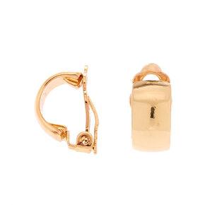 Gold 10MM Clip On Half Hoop Earrings,