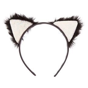 Glitter Furry Cat Ears Headband,