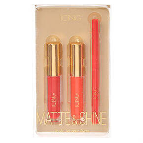 Matte & Shine 3 Piece Red Lip Kit,
