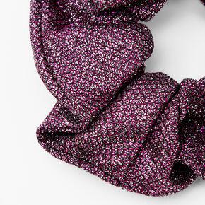 Medium Lurex Hair Scrunchie - Purple,