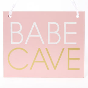 Babe Cave Wall Art Block - Pink,