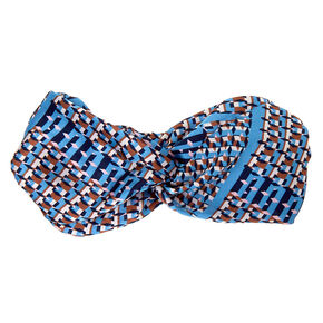 Geometric Twisted Headwrap - Blue,