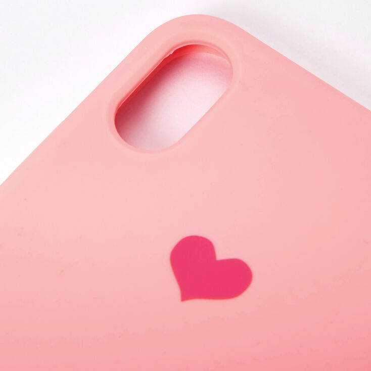 Pink Heart Phone Case - Fits iPhone XS Max,